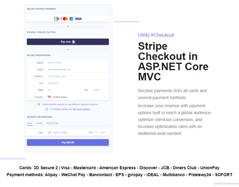 Stripe Checkout in ASP.NET Core MVC Web Application built with C# and JavaScript - 2