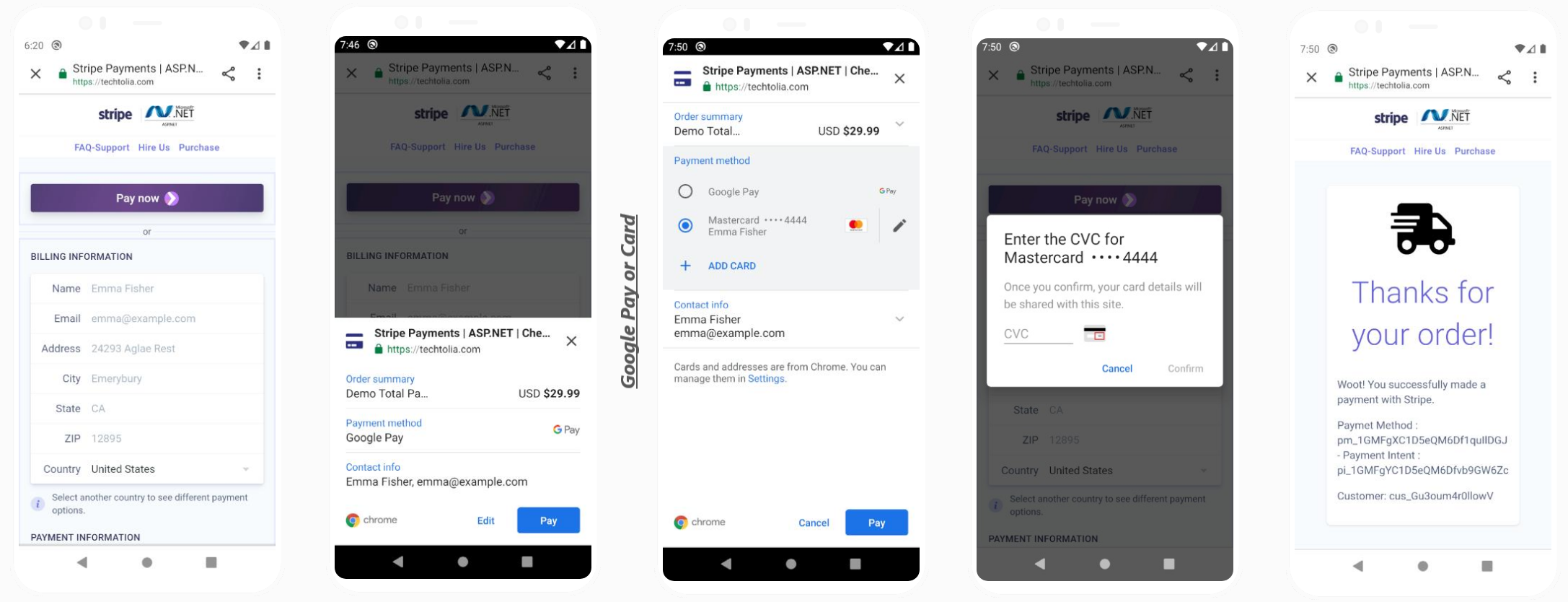 Google Pay - Payment Request Button